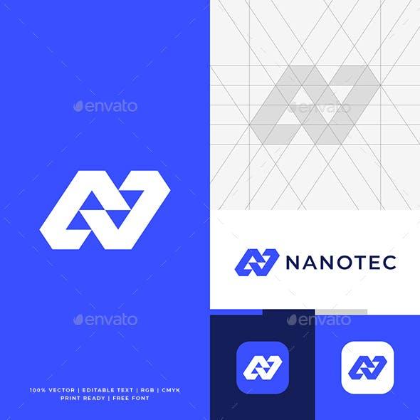 Modern N Letter Logo