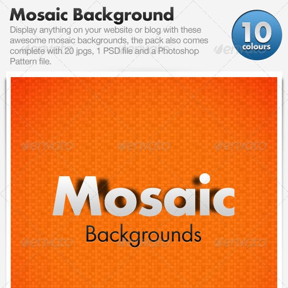 Mosaic Backgrounds x10