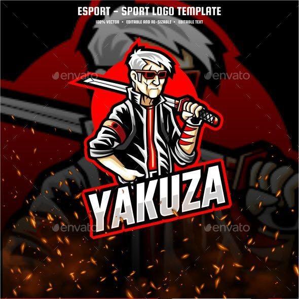 Yakuza E-sport and Sport Logo Template