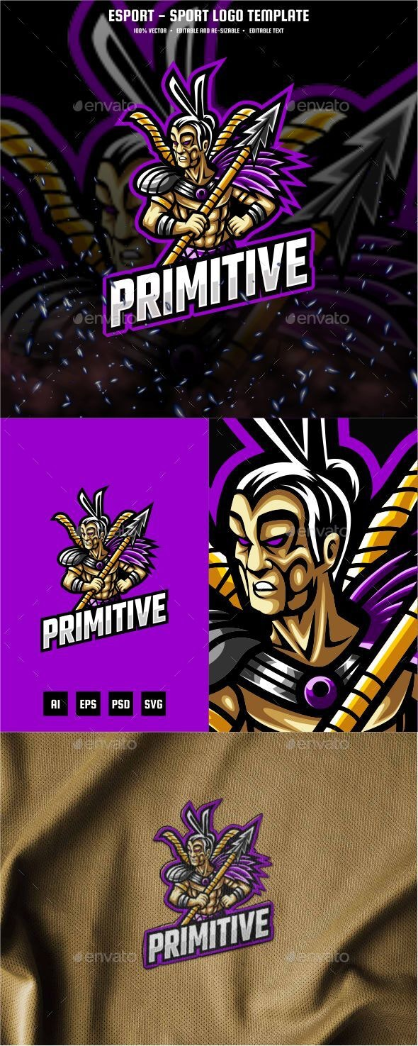 Primitive E-sport and Sport Logo Template - Humans Logo Templates