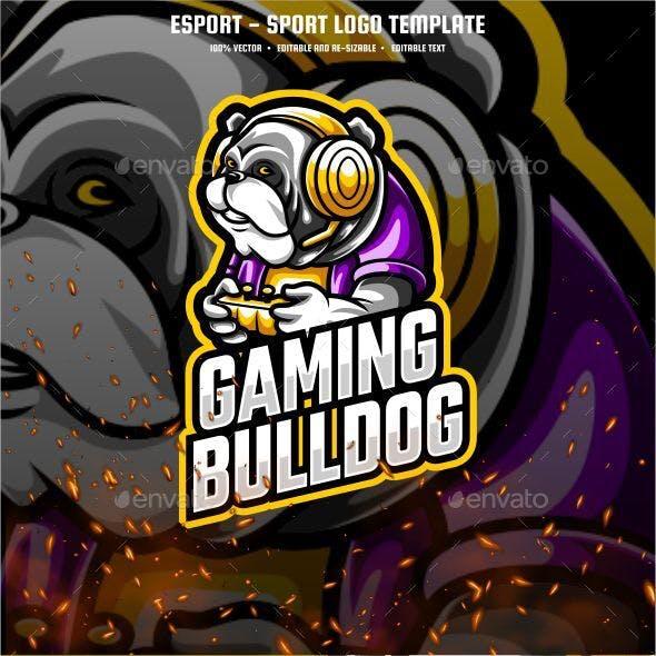 Bulldog Gaming E-sport and Sport Logo Template