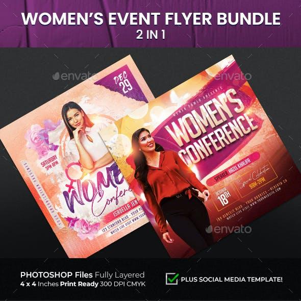 Women's Event Flyer Bundle 2 in 1