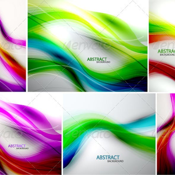 Rainbow Vector Waves Backgrounds