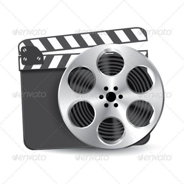 Film Reel Clapboard