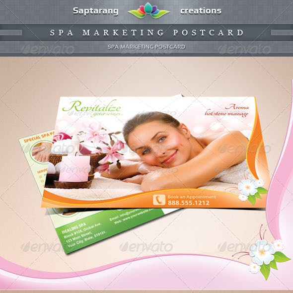 Spa Marketing Postcard Template