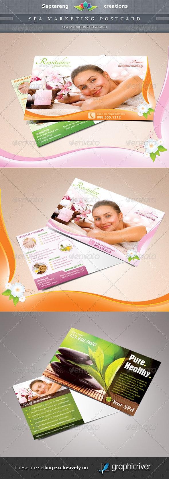 Spa Marketing Postcard Template - Stationery Print Templates