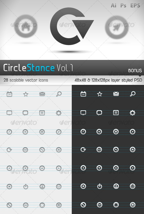 Circlestance Web & App Scalable Vector Icons Vol.1 - Web Icons