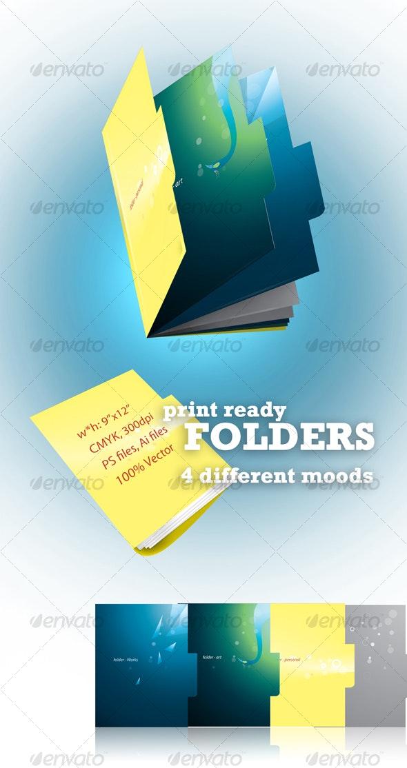Print-Ready Folders - Stationery Print Templates