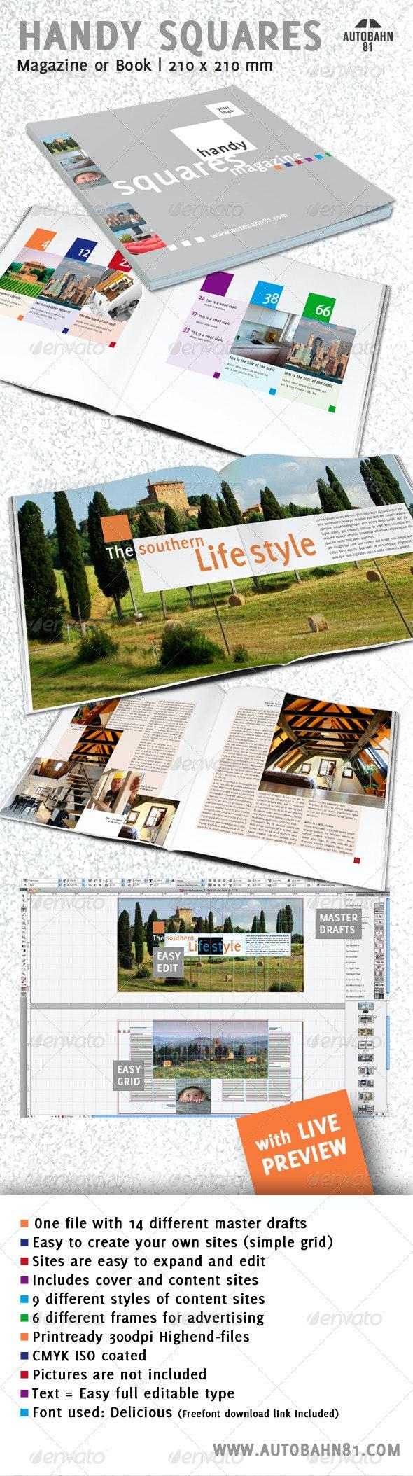 HandySquares Magazine - Magazines Print Templates