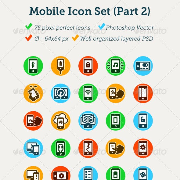 75 Mobile Icons (part 2)