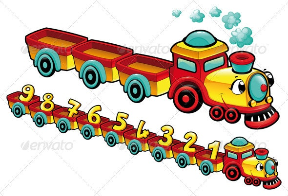 Funny train. - Travel Conceptual
