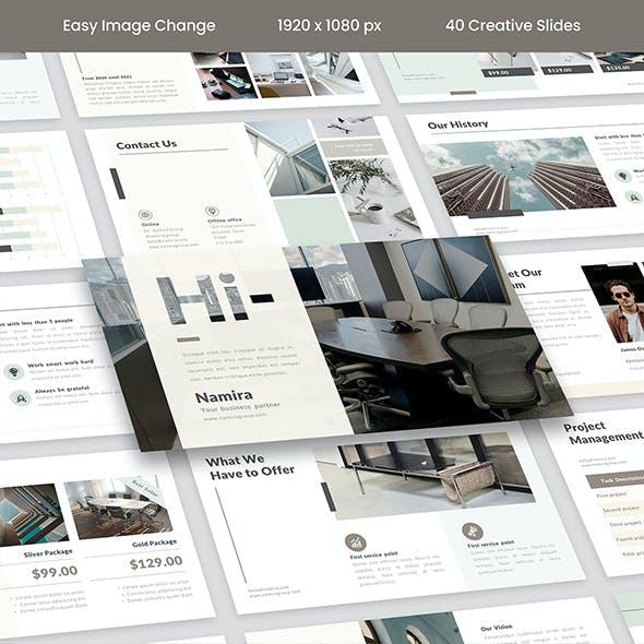 Namira – Marketing Agency PowerPoint Template