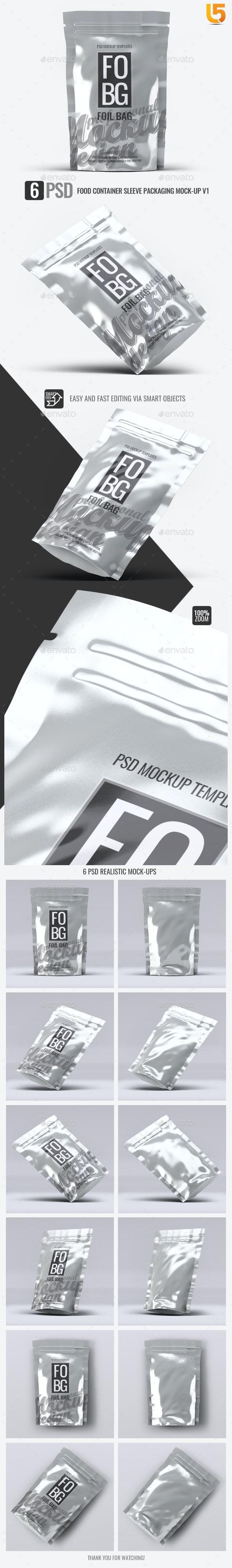 Foil Bag Mock-Up - Packaging Product Mock-Ups