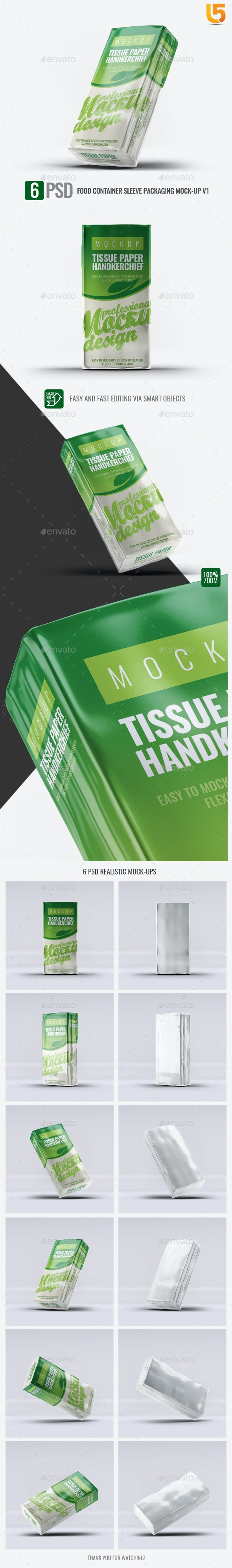 Tissue Paper Handkerchief Mock-Up - Miscellaneous Product Mock-Ups