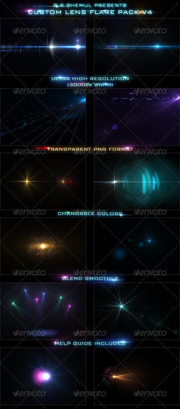 Custom Lens Flare Pack V4 - Abstract Backgrounds
