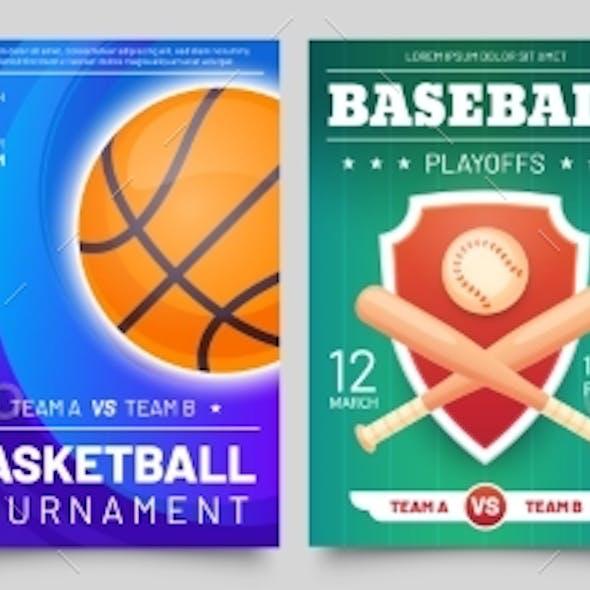 Sport Games Flyer