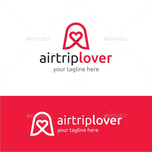 A letter logo-A letter & heart