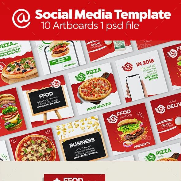 Fast Food Instagram Banners   Social Media