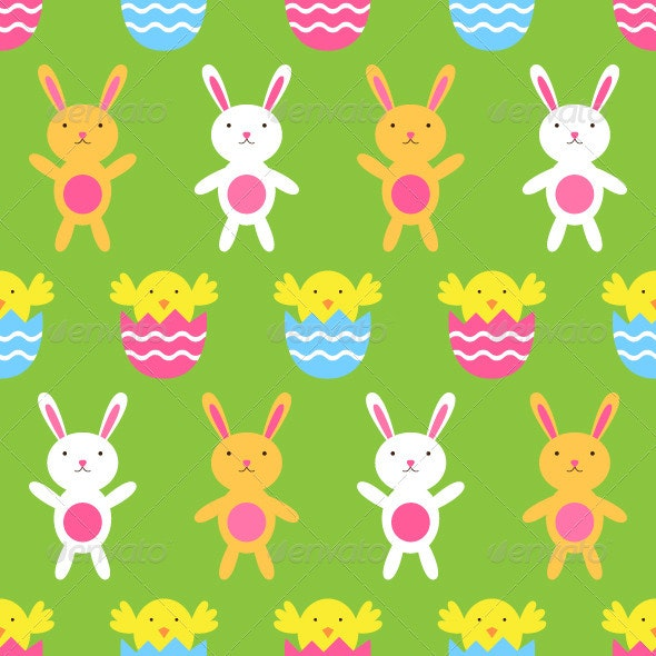 Seamless Easter vector pattern.  - Seasons/Holidays Conceptual