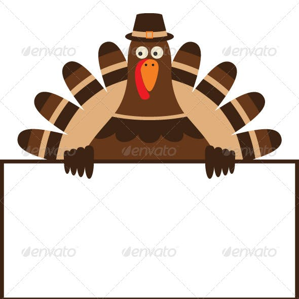 Thanksgiving turkey vector.