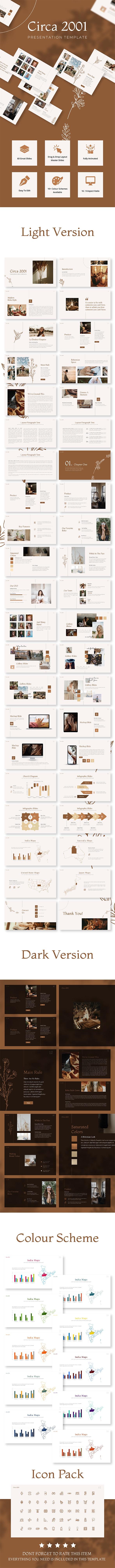 Circa 2001 Presentation Template - Business PowerPoint Templates