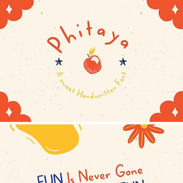 Phitaya - a Sweet Handwritten Font