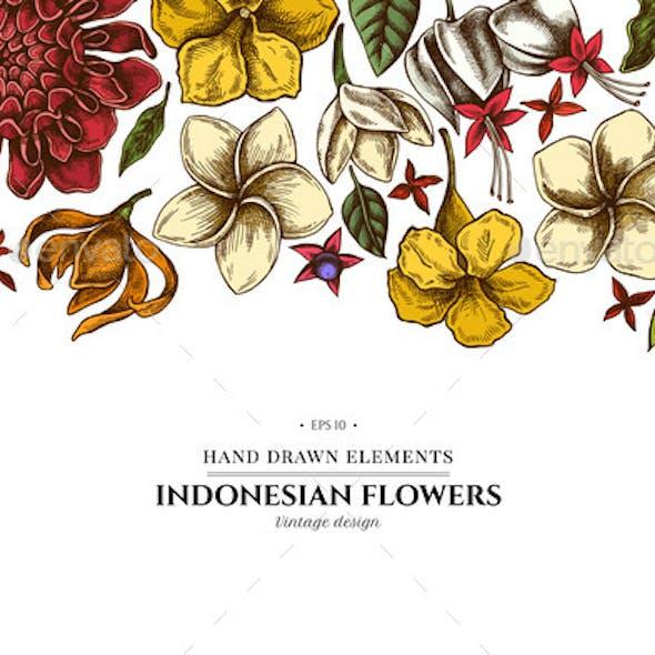 Floral Design with Colored Plumeria Allamanda