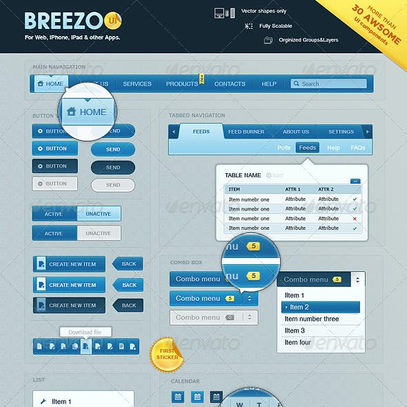 Breezoo UI Pack