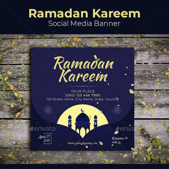Ramadan Kareem Social Media Banner