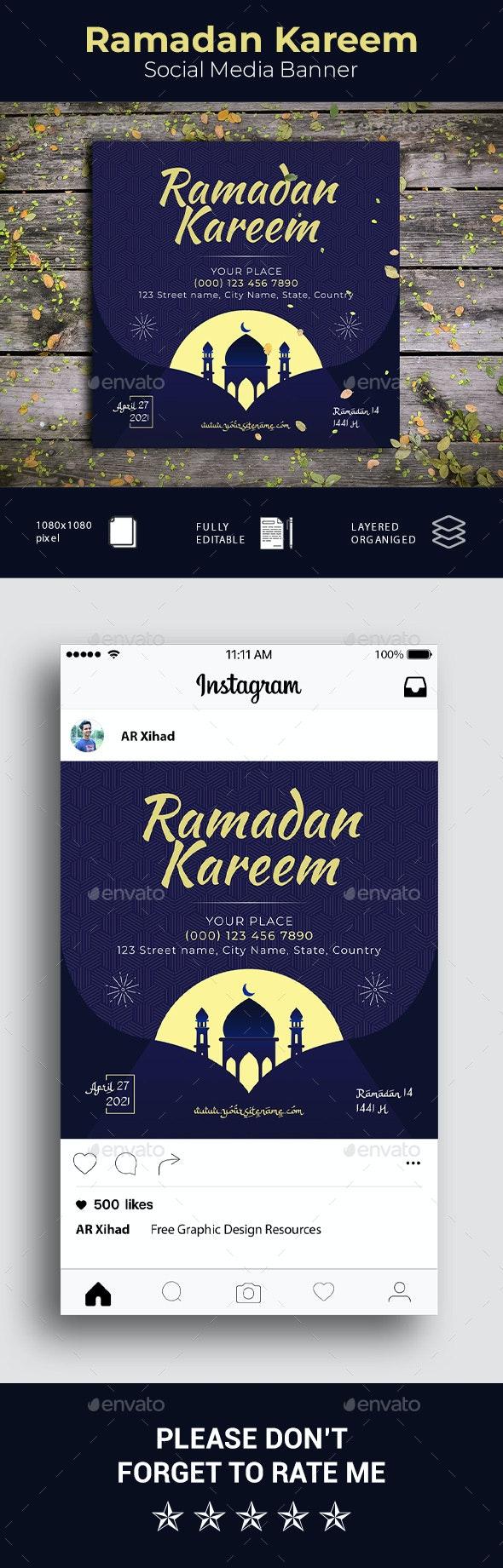Ramadan Kareem Social Media Banner - Social Media Web Elements