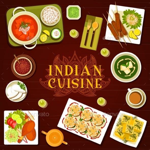 Indian Food Restaurant Meals Menu Cover