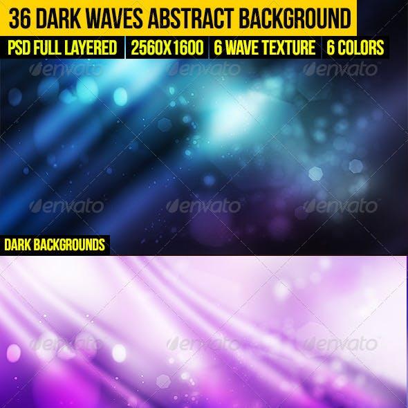 36 Dark Waves Abstract Background