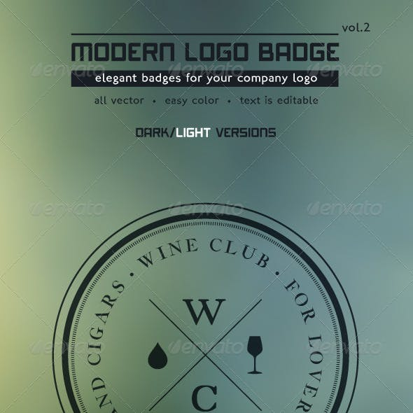 Modern Logo Badge vol2