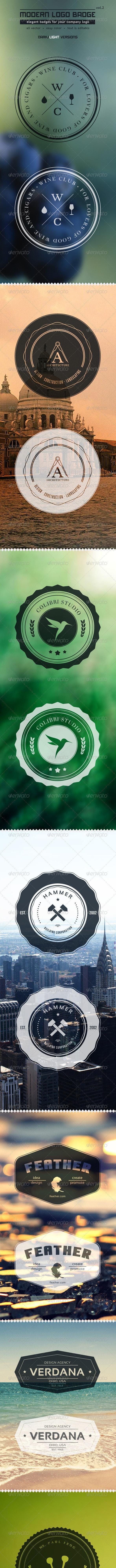 Modern Logo Badge vol2