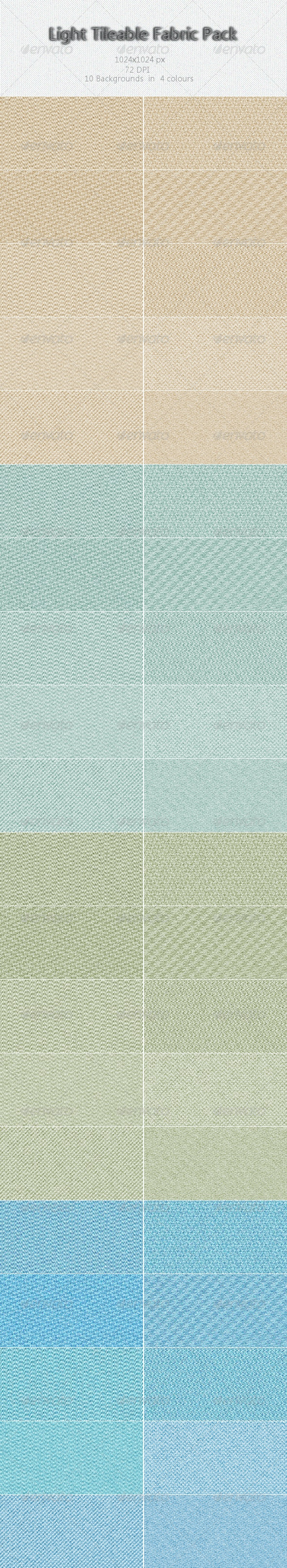 Light Tileable Fabric Pack - Patterns Backgrounds