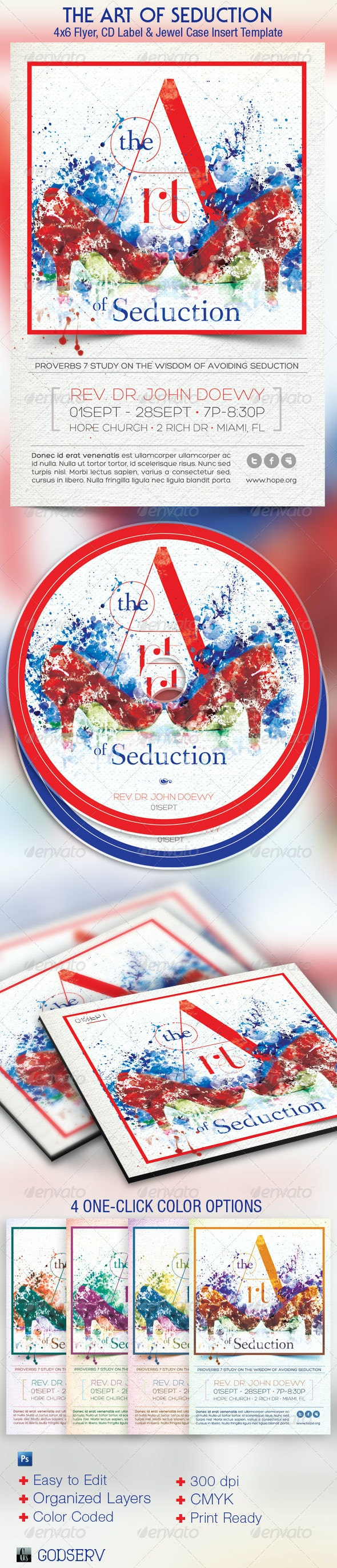 Seduction Church Flyer CD Template - Church Flyers