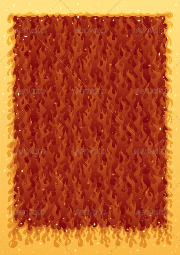 Fire Frame - Backgrounds Decorative