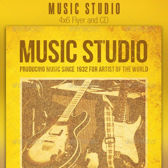 Music Studio Flyer and CD Template