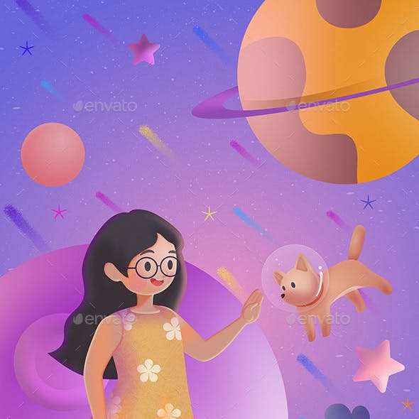 Fantasy - Girl and Space Dog