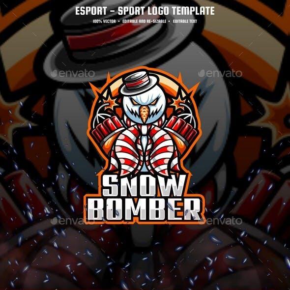 Snow Bomber E-sport and Sport Logo Template