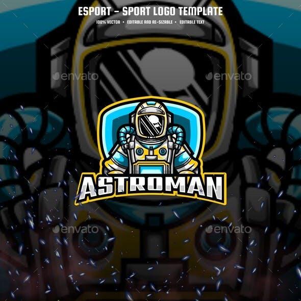 Astronaut E-sport and Sport Logo Template