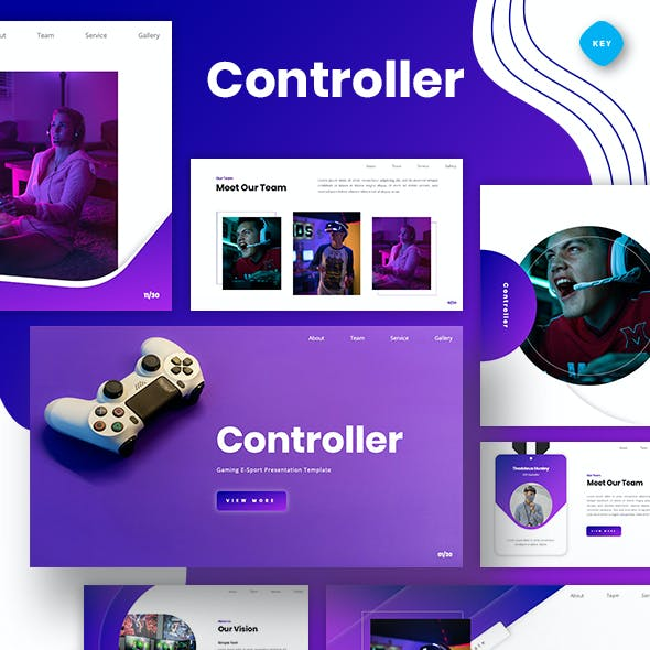 Controller - Gaming E-Sport Keynote