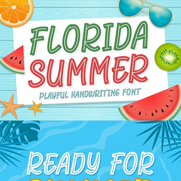 Florida Summer - Crafting Fun Font