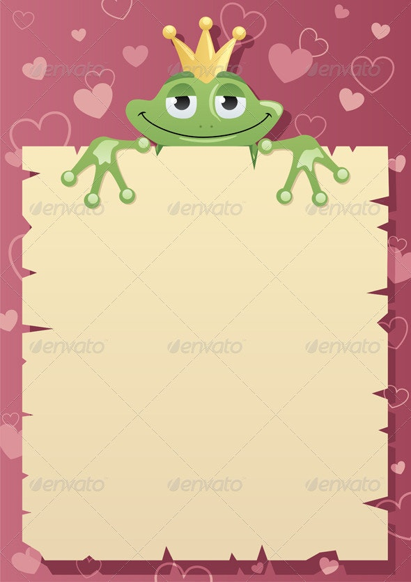 Frog Prince Letter - Borders Decorative