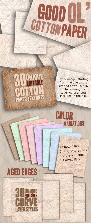 Good Ol' Cotton Paper - Paper Textures