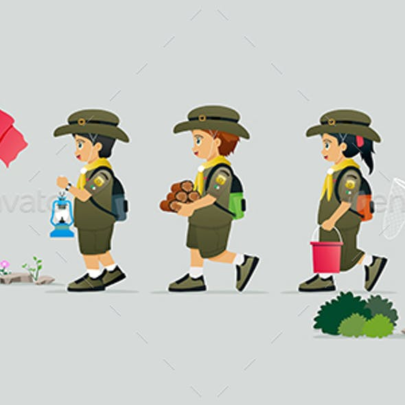 Student in scout uniform