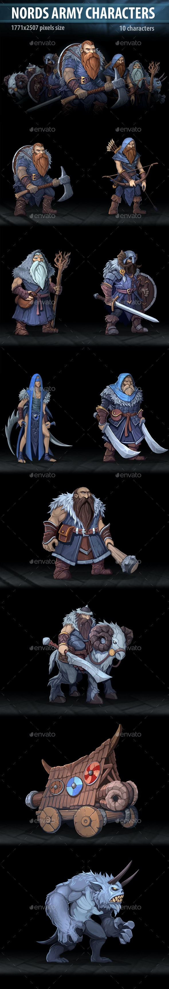 Nords Army Characters