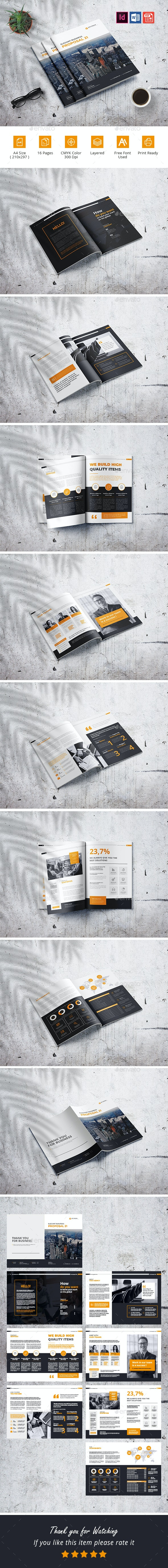 Elegant Business Proposal Template - Corporate Brochures