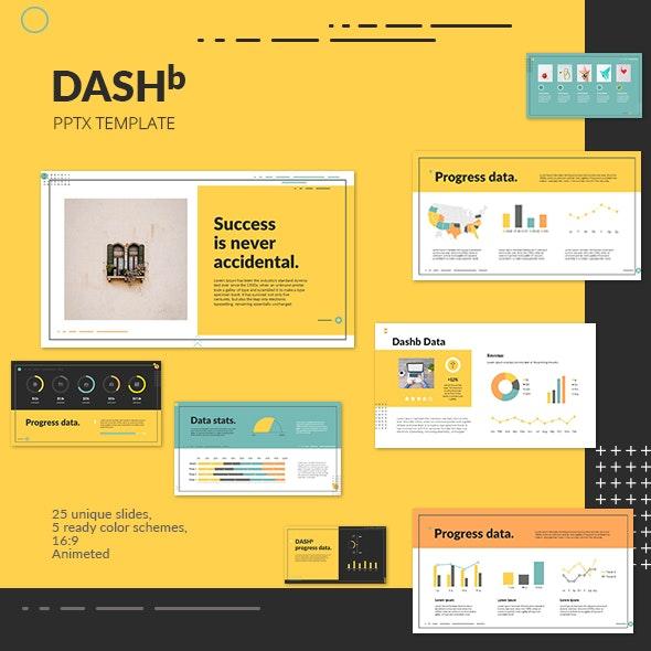 DASHb PowerPoint Presentation Template - Miscellaneous PowerPoint Templates