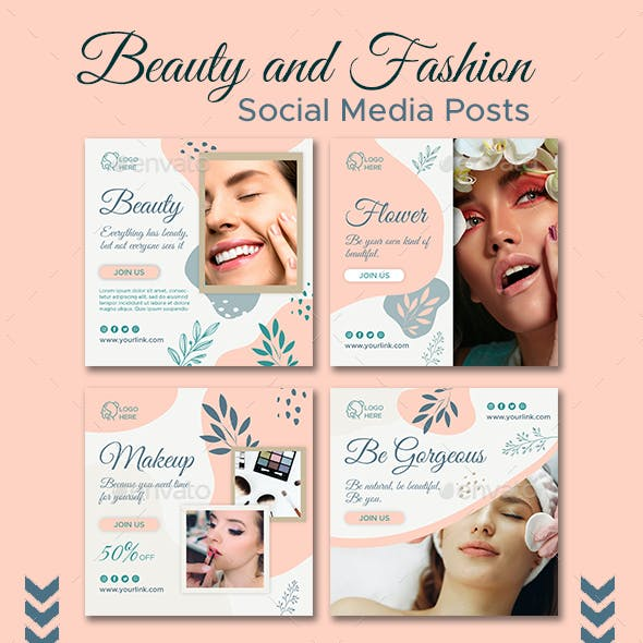 Beauty and Fashion Social Media Posts